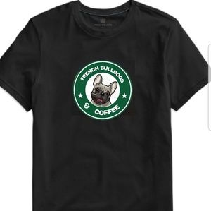 Tops - French Bulldogs and Coffee Tee
